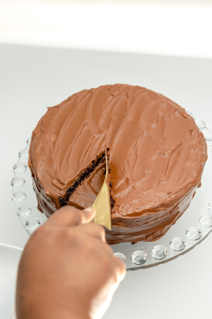 This Hershey's (Perfectly Chocolate) Chocolate cake is moist, fluffy, and contains all the sweet chocolaty flavors you desire.